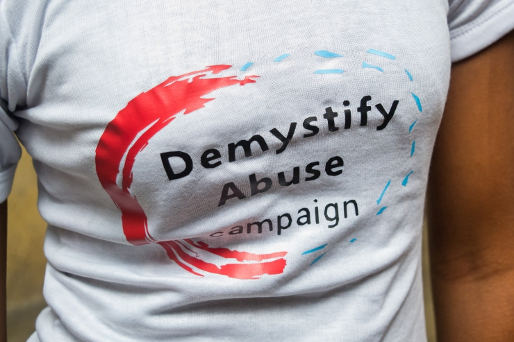 demystify abuse campaign logo